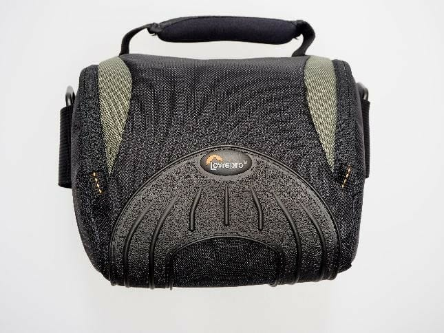 A picture containing bag, accessory, black  Description automatically generated