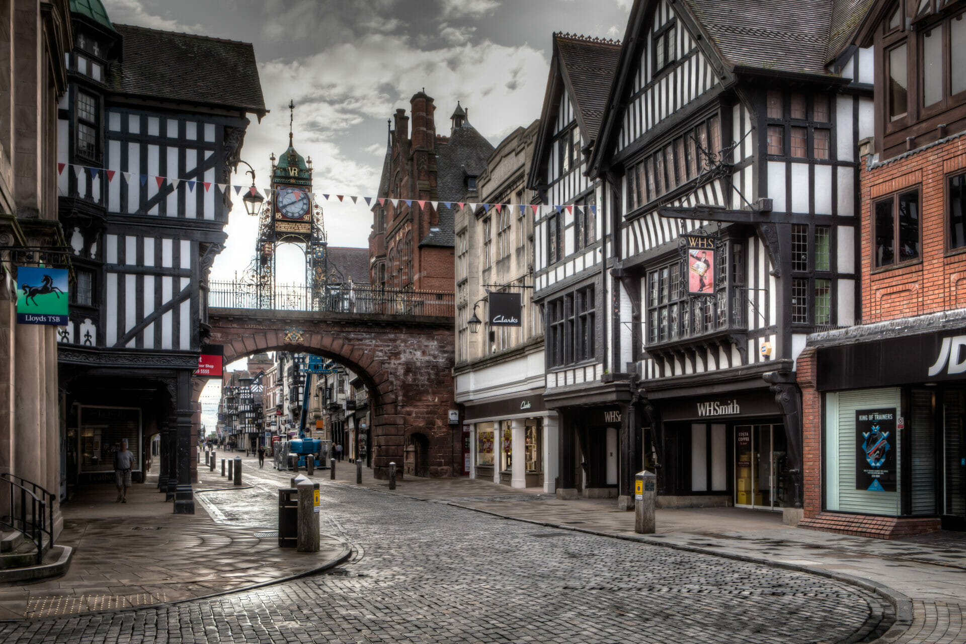 Colour Photo of Buildings in Historical Chester - all photos taken on a Welshot Photographic Academy Workshop