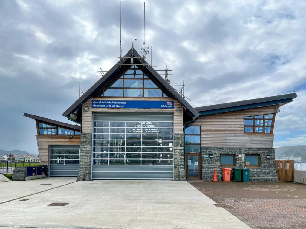 Photograph of the RNLI Station in Llandudno North Wales. Take on a Welshot Photo Day