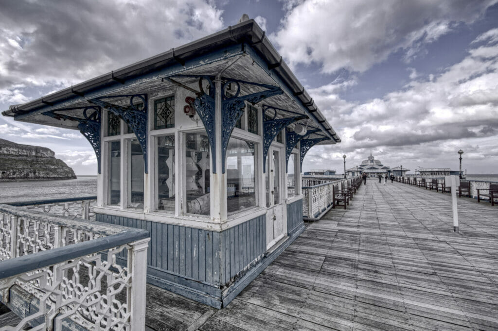 Photograph of a concession shop on the Llandudno prom in North Wales.  Taken on a Welshot Photographic Workshops and Events