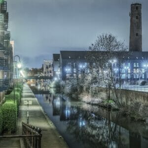 Photo taken in lowlight along the Shropshire Union Canal in Chester. Photo taken by Mark Carline and used to promote the Welshot Low-Light Long Exposure & HDR Photography - Chester Academy Evening