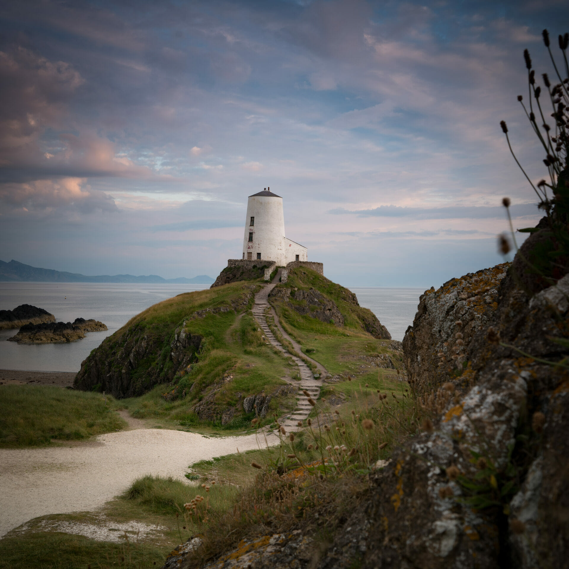 Photo of the old lighthouse on Llanddwyn Island, Anglesey - Taken on a Welshot Photographic Workshop