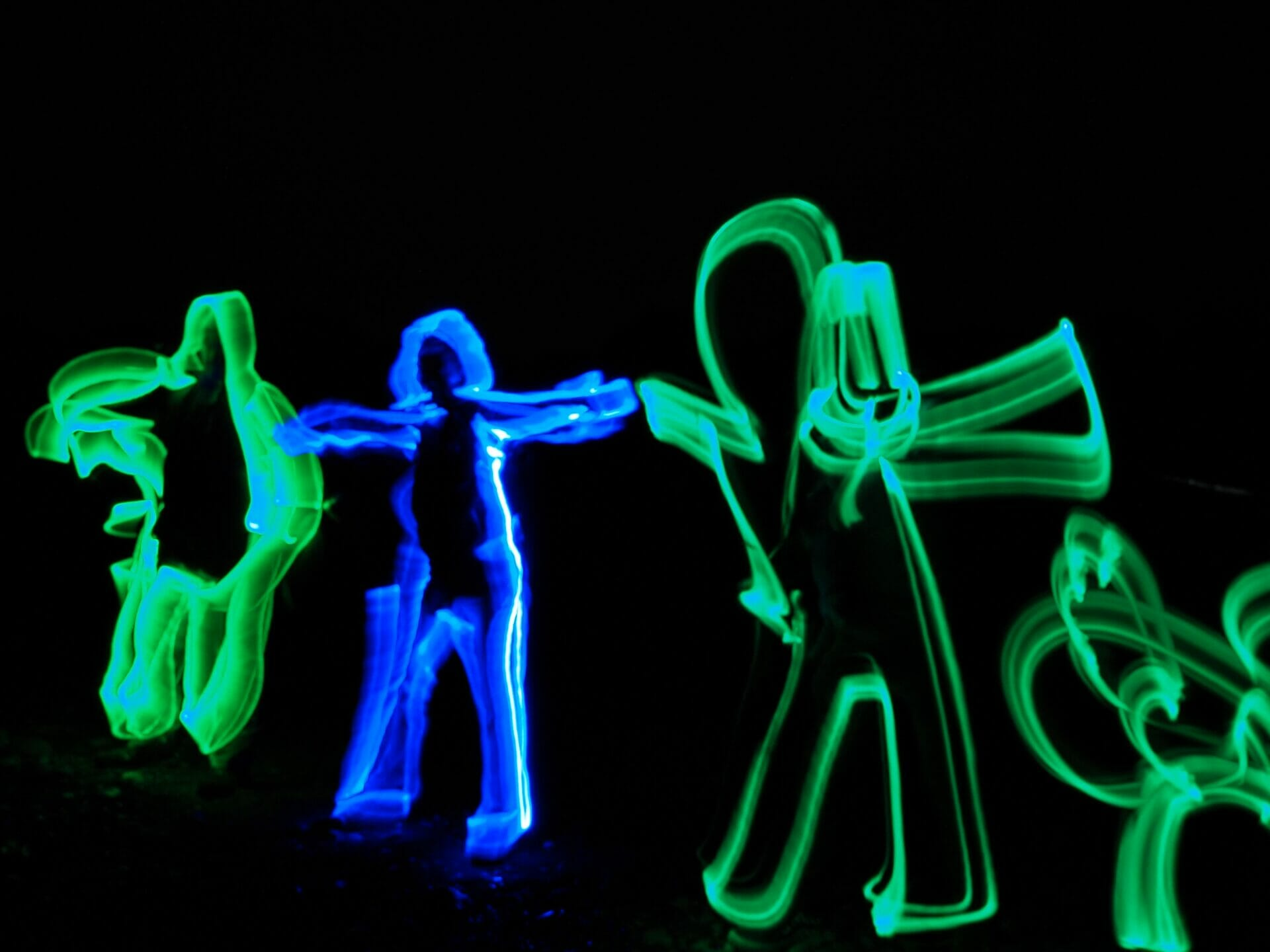 Photo of a Light Painting Long Exposure taken on a Welshot Photographic Workshop