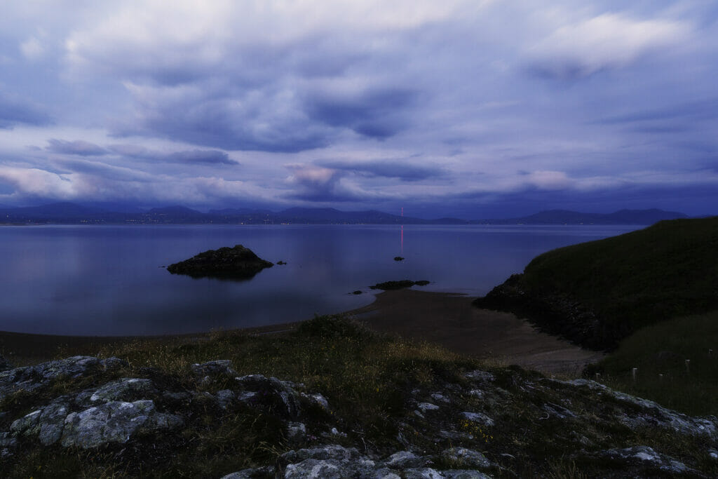 Photo taken at Penmon Point on Anglesey at Sunrise on the Shortest Night of the Year 2021