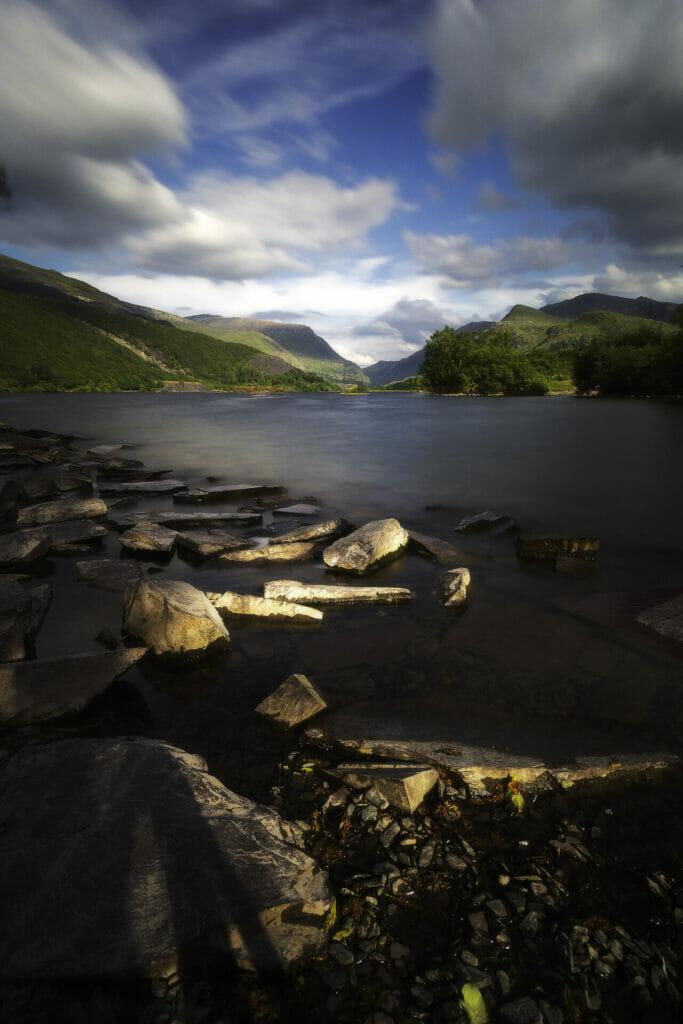 Photo of Llyn Padarn looking towards the foothills of Snowdon