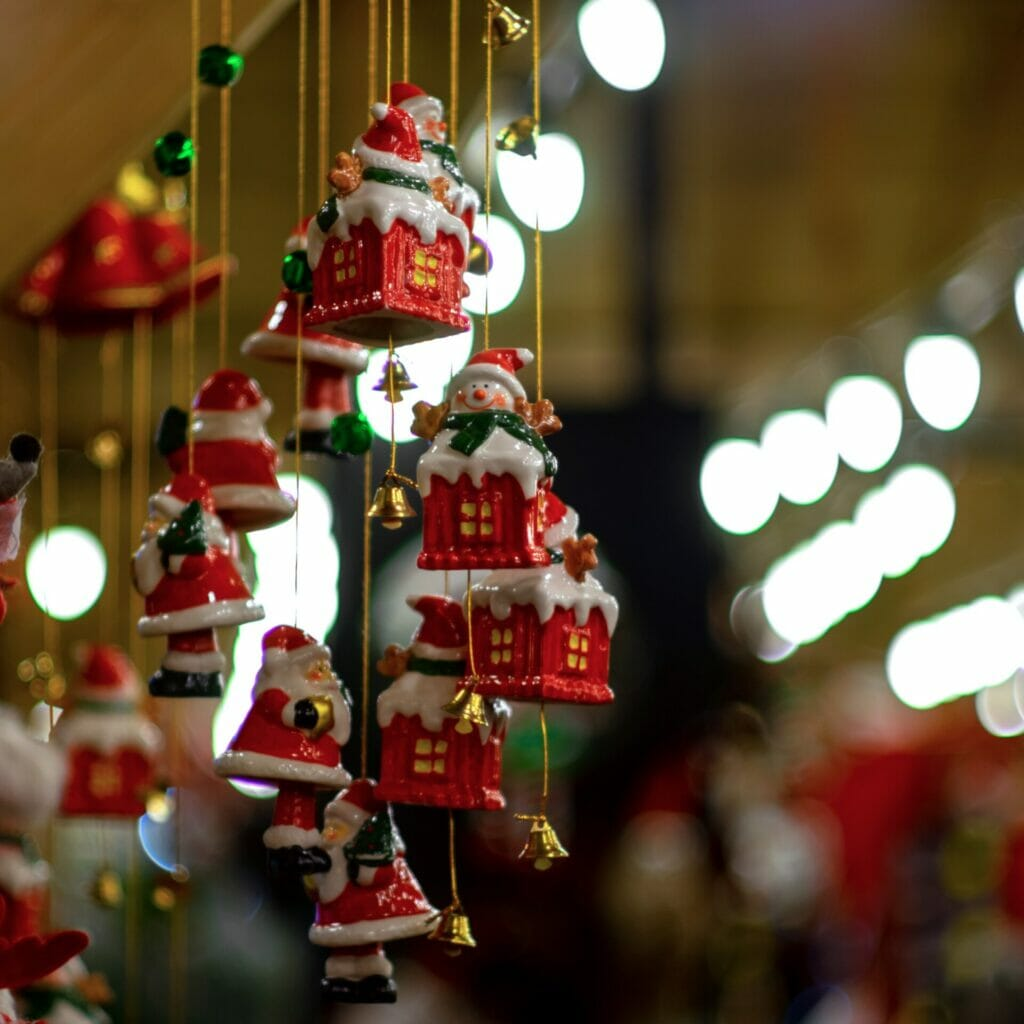 Photo of Christmas Ornaments taken on a Street Photography – Manchester Christmas Markets workshop with Welshot Photographic Academy